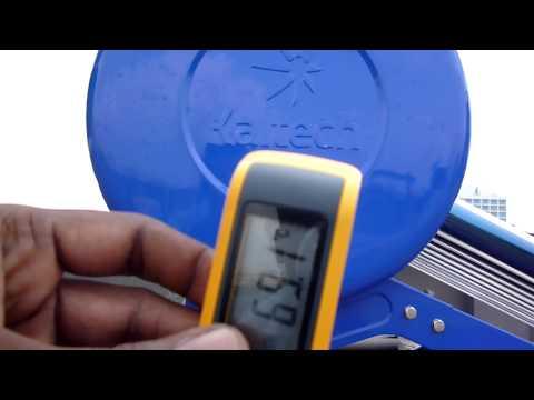 Temperature Reading of Kaltech Energy Solar Water Heaters,Cochin,Kerala,India