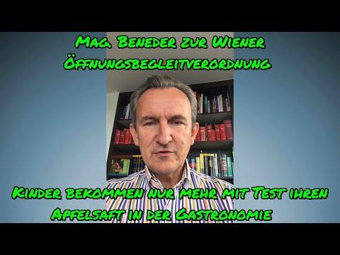 MAG. BENEDER: Wiener Öffnungsbegleitverordnung - Kinder bekommen nur mehr mit Test ihren Apfelsaft!