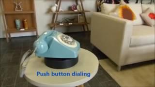 Wild & Wolf 746 Retro French Blue Telephone