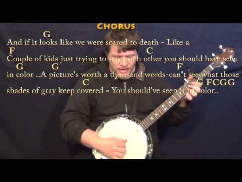 In Color (Jamey Johnson) Banjo Cover Lesson with Chords/Lyrics  - Capo 3rd