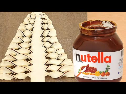 How to Make a Nutella Chocolate Christmas Tree Pastry