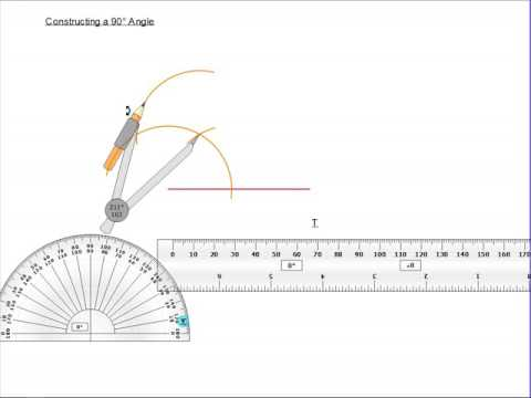 Constructing a 90 degree angle