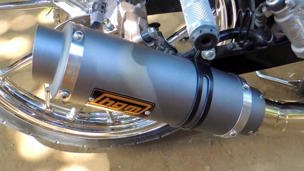 hgm pipe with silencer raider 150 - YouTube