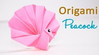 PEACOCK ORIGAMI, STEP BY STEP INSTRUCTIONS | Origami instructions ... | 180x320