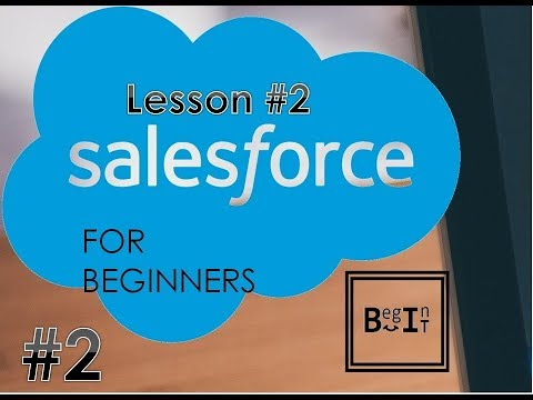 Salesforce For Beginners - 2. How to create Applications, Objects, Tabs and Fields