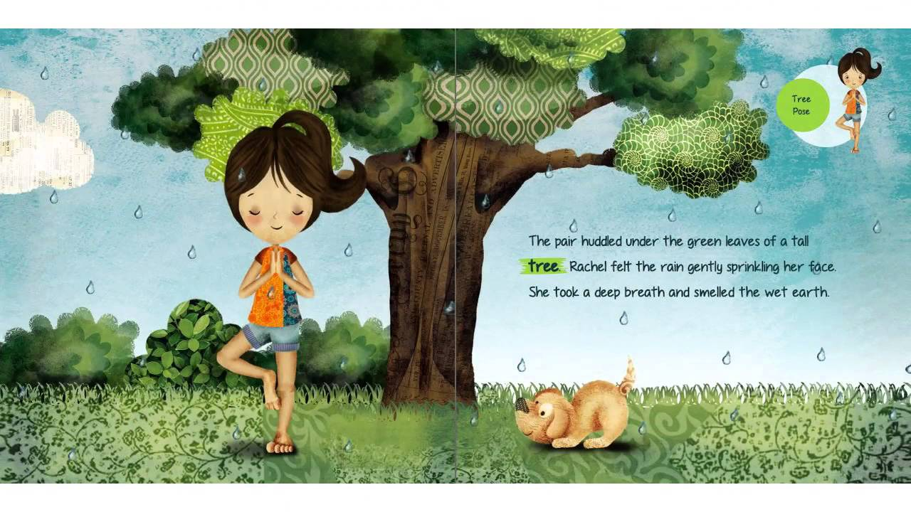 rachel u0027s day in the garden a kids yoga stories audio yoga book