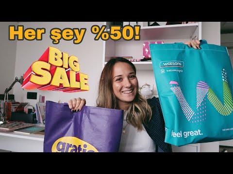 GRATİS WATSONS BÜYÜK İNDİRİM ALIŞVERİŞİ | HER ŞEY %50! | Zamdan sonraki güncel fiyatlar!