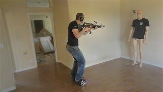 Hoverboard Machine Gun Room Clearing