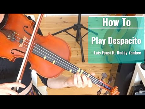 DESPACITO (how to play) | SUPER Easy Violin Tutorial for BEGINNERS
