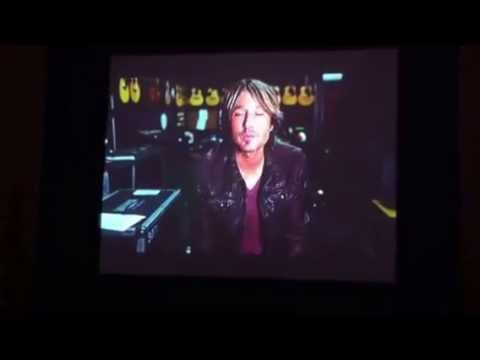 Keith Urban Message to Fan Club