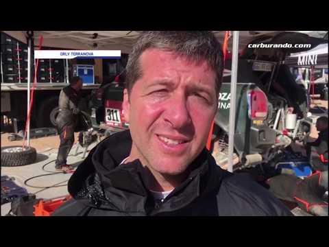 Orly Terranova lidera el Dakar en autos
