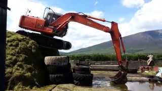 How to get your 13 ton digger off the Silage pit