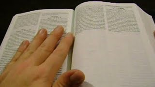ASMR - 10 MINUTE TINGLES / BIBLE PAGE TURNING (NO TALKING)