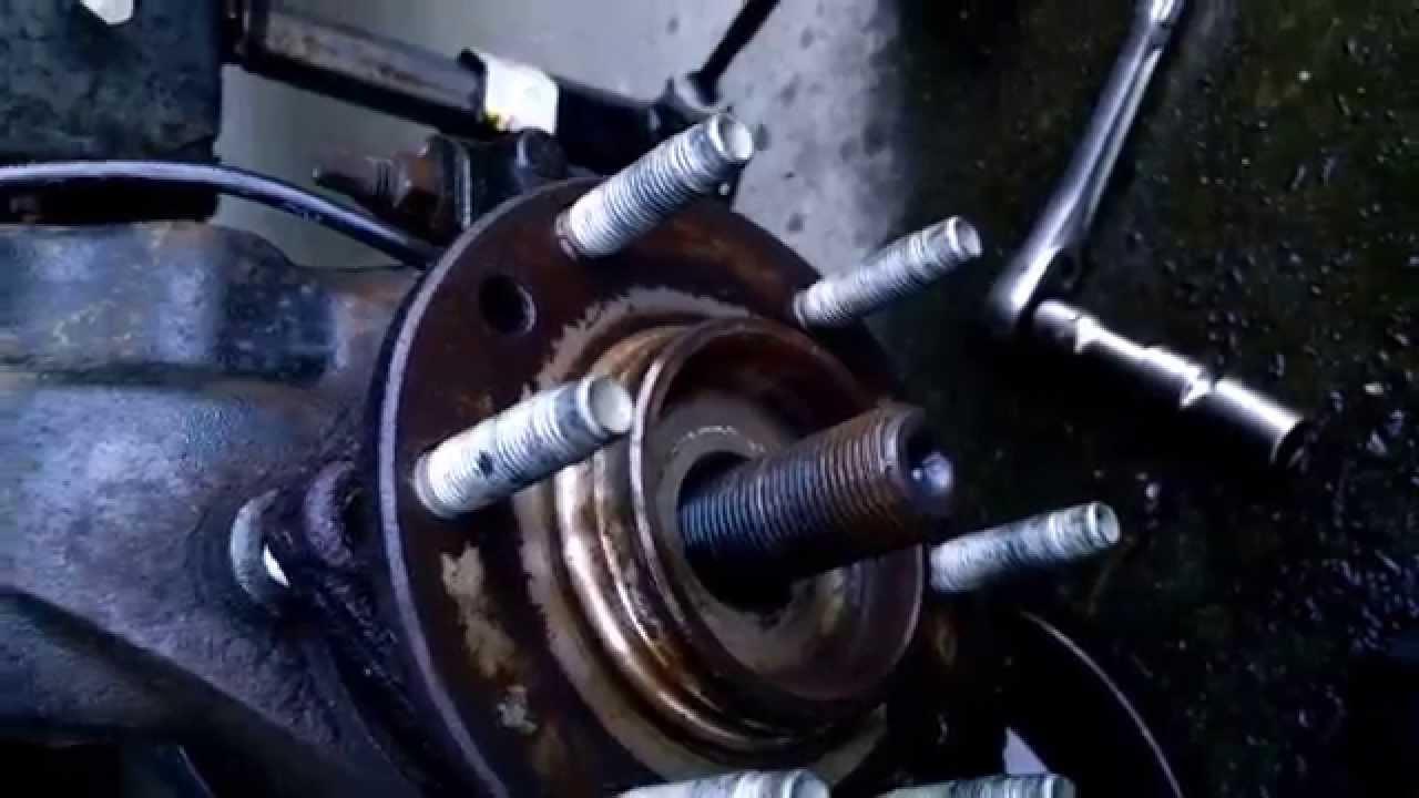 05 trailblazer front wheel bearing replacement youtube