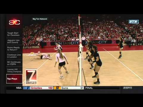 Nebraska Volleyball on SportsCenter Top 10