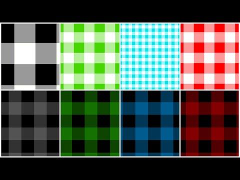 Photoshop - Buffalo Check Pattern - Tutorial