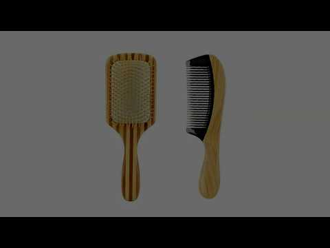Wooden Brush for Healthy Hair bamboo hair brush & wood comb set wholesale dropshipping supplier!
