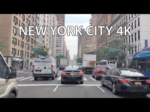 Driving Downtown 4K - Manhattan 3T Real Estate - New York City USA