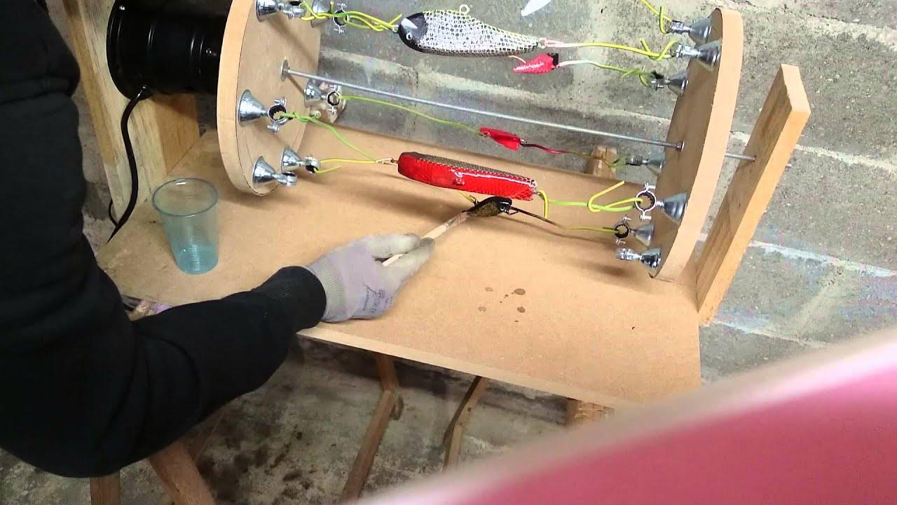 R sine epoxy pour leurre de p che youtube for Peinture pour bois verni