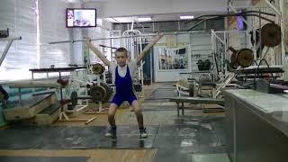 Попов Максим, 12 лет, вк 38 Рывок от бедра в п п  8 кг Новичок
