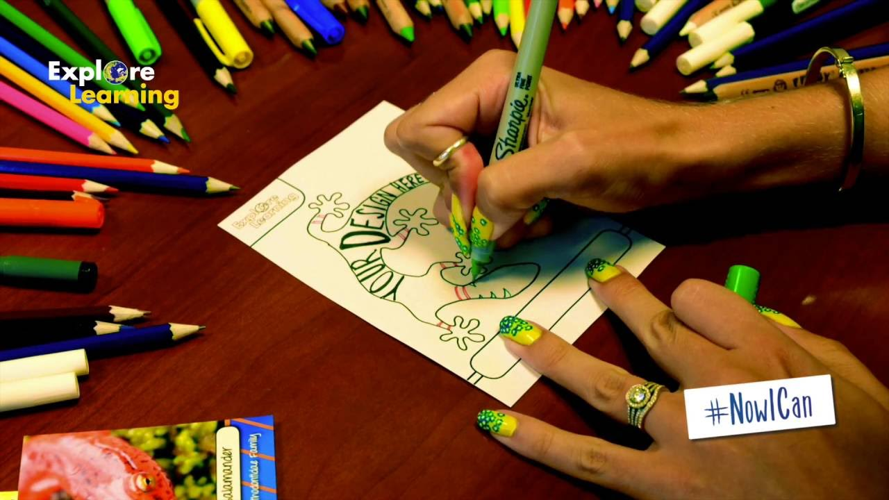 Design your own lizard card! - YouTube