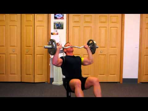 Seated Curl-bar Shoulder Press for Massive Deltoids