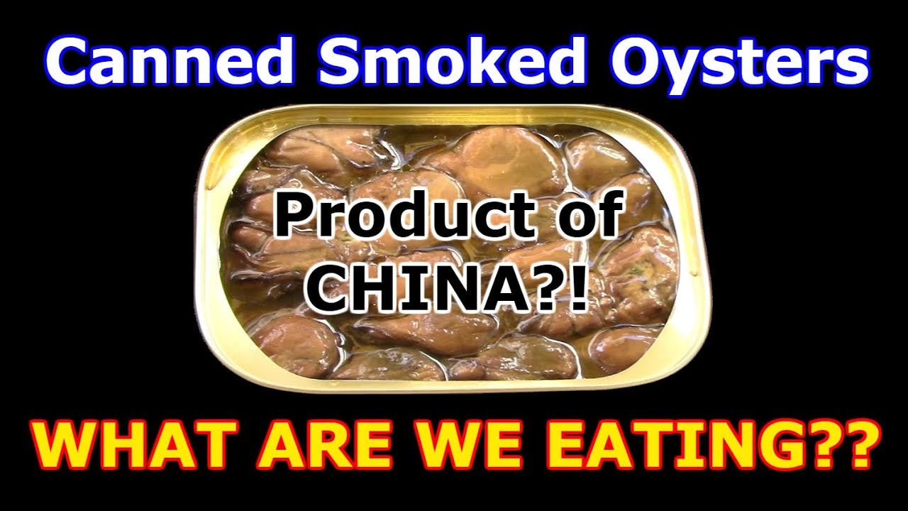 Smoked oysters from china