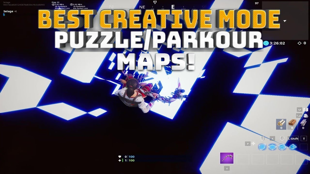 top 5 creative mode puzzle parkour maps fortnite battle royale - fortnite best maps codes