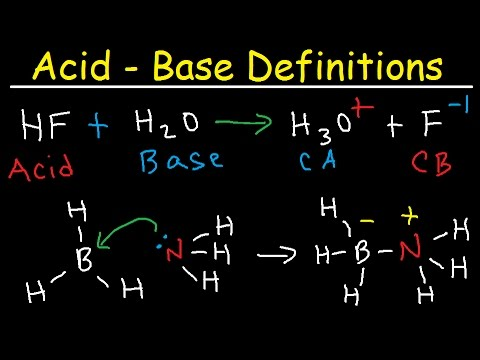 Conjugate Acid Base Pairs, Arrhenius, Bronsted Lowry and Lewis Definition - Chemistry