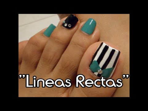 Lineas rectas decoraci n de u as para los pies facil for Decoracion unas en pies