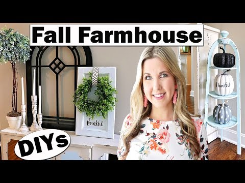 Fall Farmhouse 🍁 Trash to Treasure Thrift Store Makeover DIY
