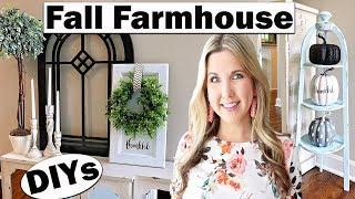 Fall Farmhouse 🍁 Trash to Treasure Thrift Store Makeover DIY