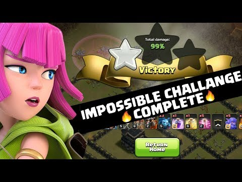 99% 1 STAR | Impossible Challenge - Clash of Clans COC | YOU vs ME Ep #02