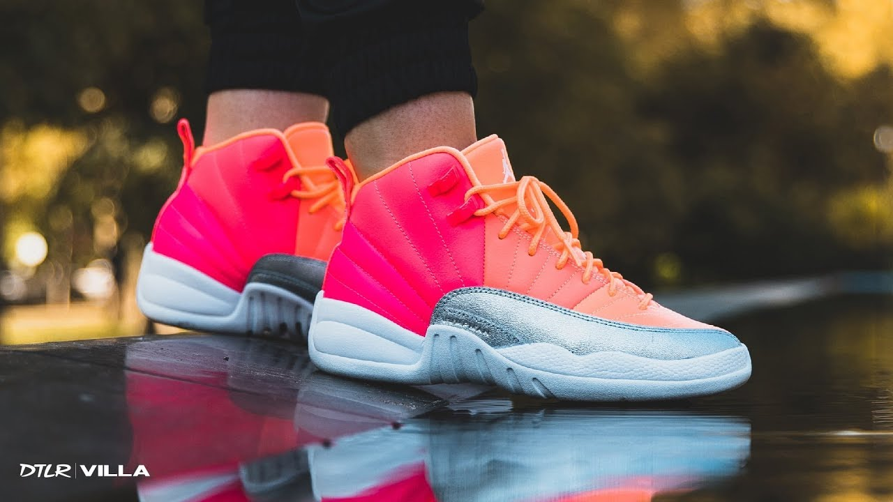 air jordan 12 retro gs hot punch