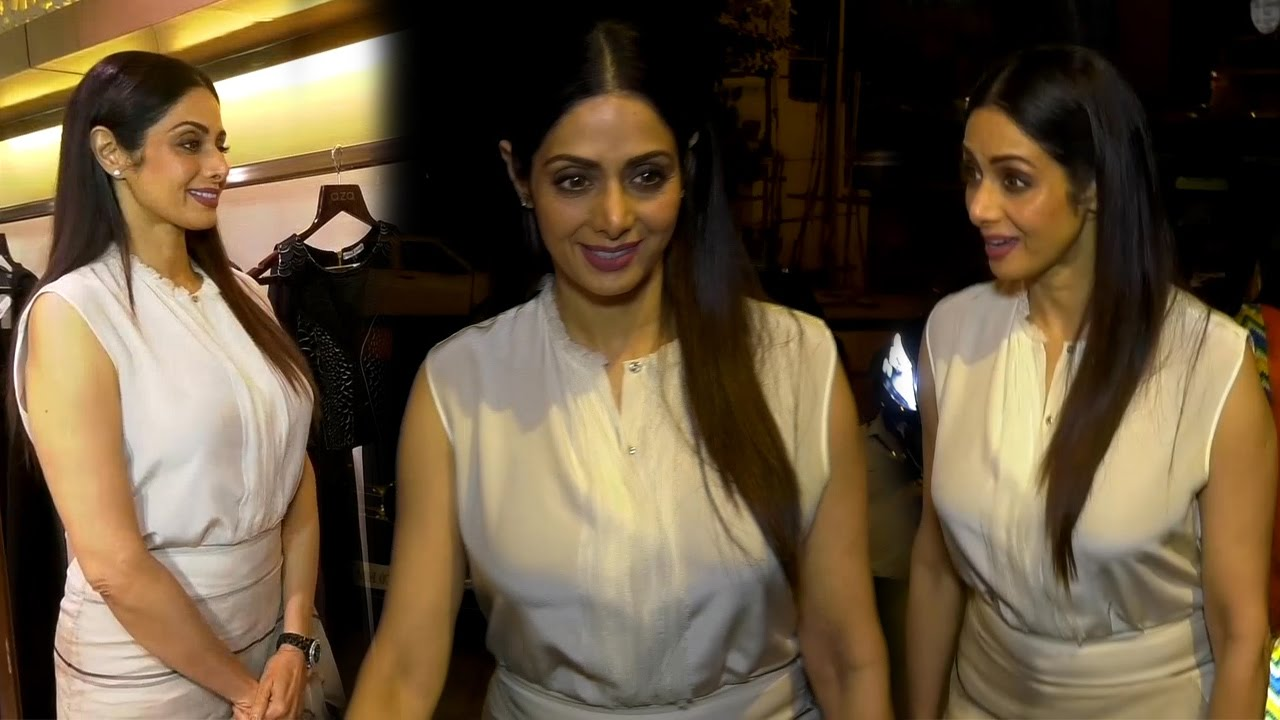 Hot Sridevi at designer Esha Amin's preview of party wear collection
