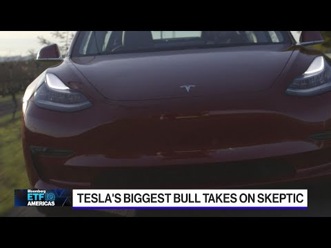 Tesla's stock soars toward record as Wall Street's biggest bear ...