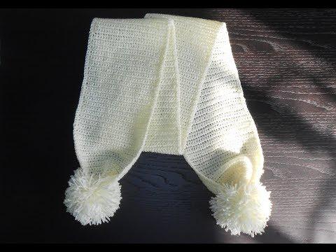 Крючком детские шарфики