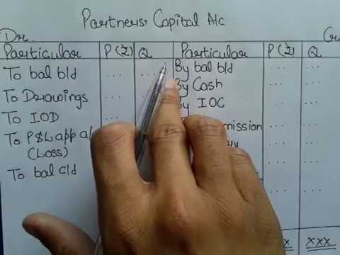 #3 Methods of Preparing Partner's Capital Account with Example in Hindi By JOLLY Coaching