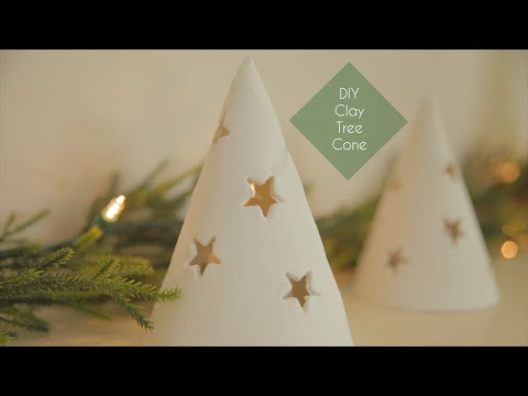 DIY Clay Tree Cone