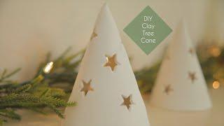 DIY Clay Tree Cone