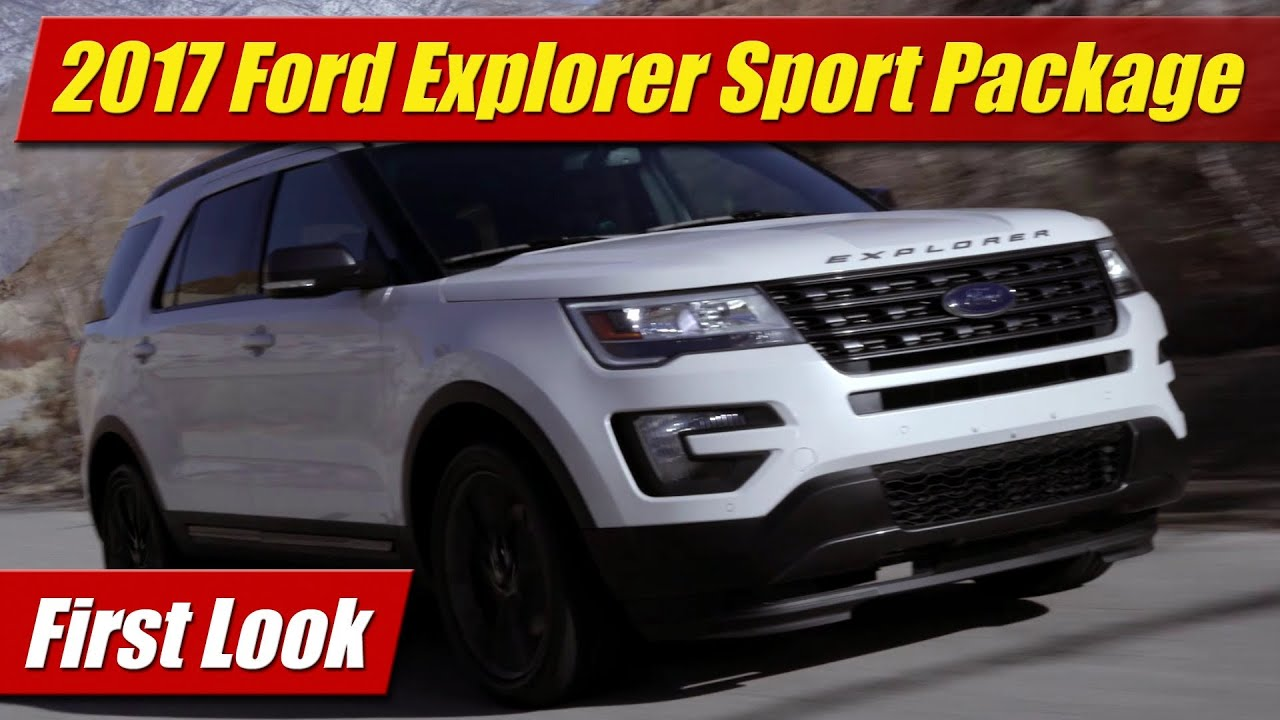 2017 ford explorer xlt sport appearance package first look youtube