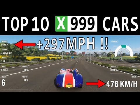 TOP 10 FASTEST CARS FULLY UPGRADED In Forza Horizon 4 – TOP SPEED +297MPH !!