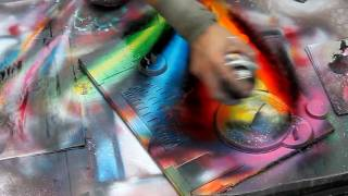 Repeat youtube video Technically perfect spray painting in Rome, Italy - HD720p