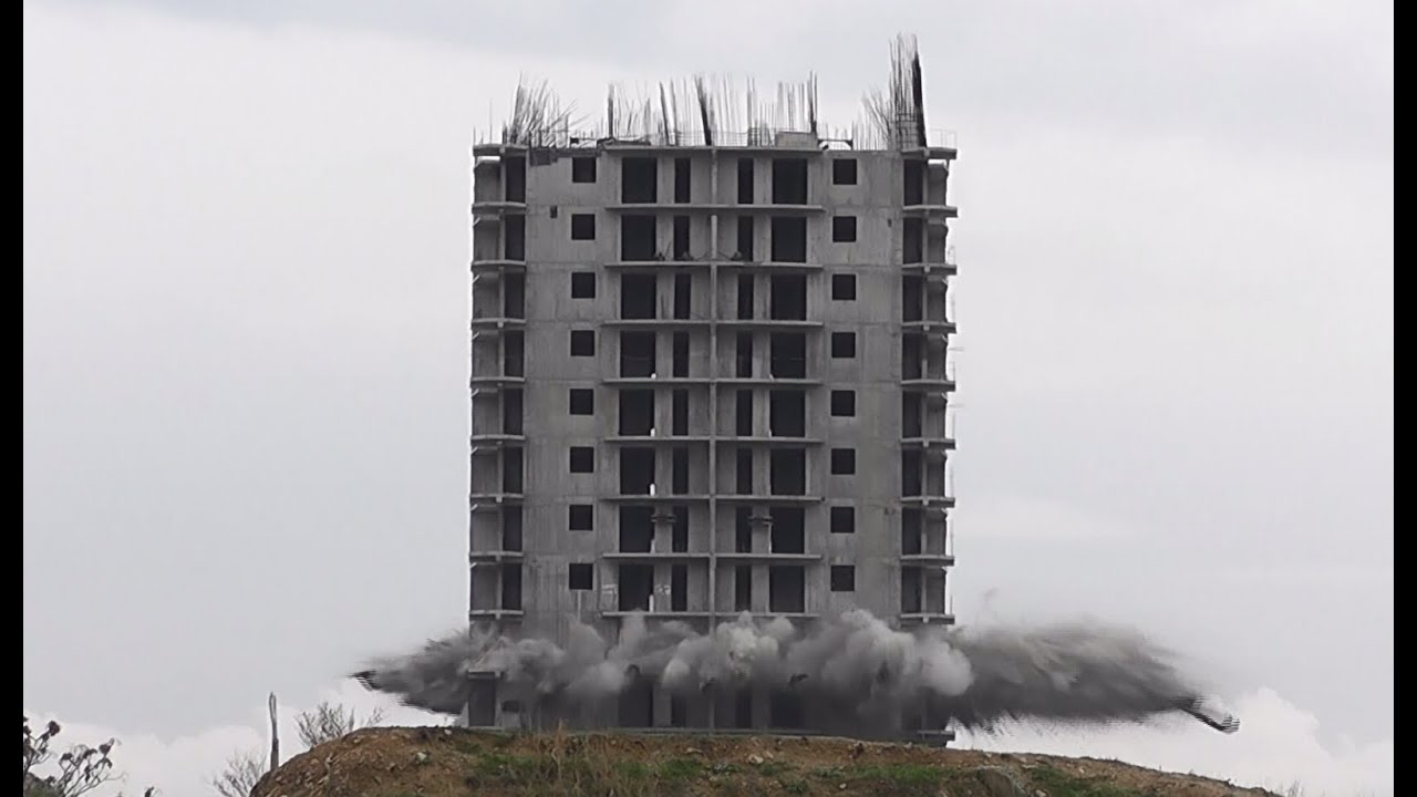 High Rise Demolition : In russia building blasts you high rise demolition fail