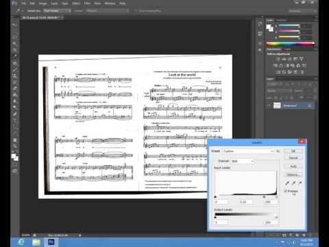 Basic Photoshop tutorial (music notes) - 1