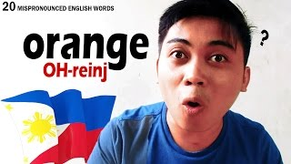 20 Mispronounced English Words by Filipinos (Part 1/2)