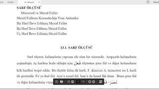 K.Maraş #İLİTAM #Arapça 1 / 13.Ünite / SÜLASİ MÜCERRED VE SÜLASİ MEZİD FİİL BAB VE ÇEKİMLERİ