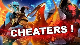 Dota 2 Cheaters: PL, Phoenix, Axe and Invoker with SCRIPTS!