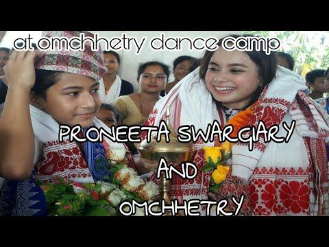 Proneeta swargiary and om chhetry at omchhetry dance camp