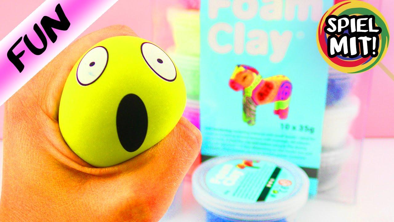 anti stessball emoji mit seidenknete und wolkenschleim silk clay form clay diy selber. Black Bedroom Furniture Sets. Home Design Ideas